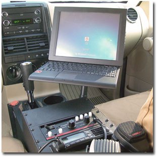 Computer mounted in Police Explorer